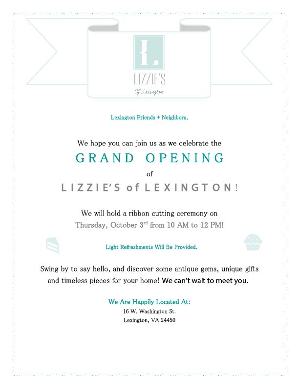LOL Grand Opening Invitation
